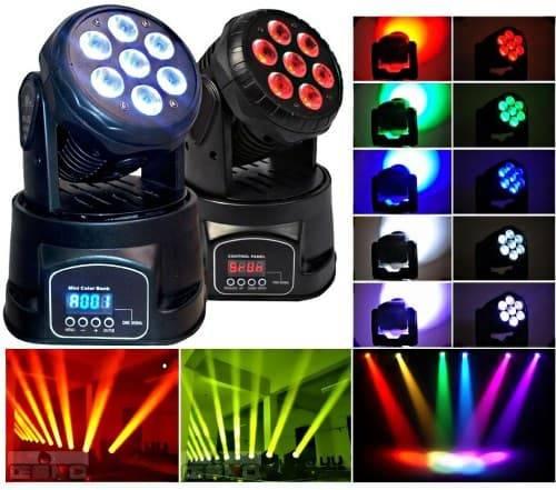 Вращающиеся головы LED купить для дискотеки и клуба